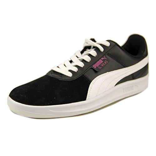 PUMA Women's G.Vilas Basic Sport Classic Sneaker, White/Black, 8 B US