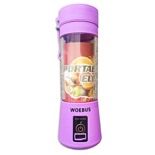 Finest Portable Blender Or Food Processor For The Traveller, For The Camper and All Who Desires A Mini Portable Juicer For Travel, Outdoor Or To Rapidly Make A Shake, Juice Or A Cool Beverage (Purple)