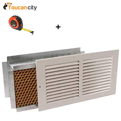 Toucan City Tape Measure and Battic Door Energy Conservation Products 12 in. x 6 in. Return Air Pathway Register, White Wall Mount 12X6