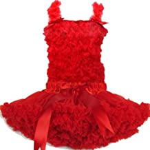 Buenos Ninos Girl's Pure Chiffon Dance Pettiskirt Tutu Set Various Color