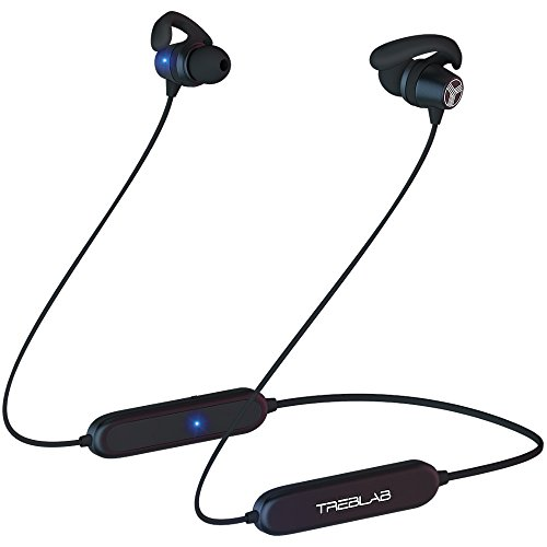 Complete Bluetooth Set - TREBLAB N8 - Extreme Sports Bluetooth Headphones. Lightweight Wireless Earbuds w/Magnetic Secure-Fit Waterproof Sweatproof For Running Workout. Noise Cancelling Neckband Headset w/Mic. New Model 2018