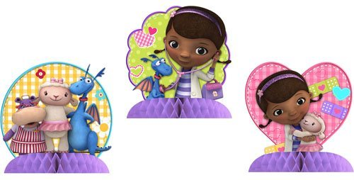 Doc McStuffins Centerpiece Decorations 3 Mini Centerpieces]()