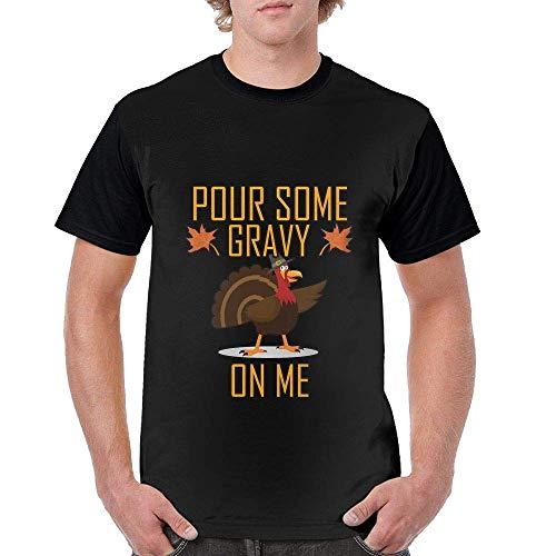 Men's T-Shirt Pour Some Gravy On Me Short Sleeve Black -