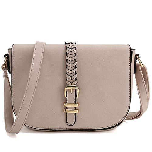 Casual Small Crossbody Saddle Bags for Women Shoulder Purse Designer Handbags (PInk)