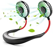 YOROZUCERY Hands Free Neck Fan, Mini USB Rechargeable Personal Fan, Neckband Headphone Design Portable Fan wit