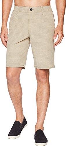 - O'Neill Men's Locked Stripe Quick Dry Hybrid Boardshort, Khaki, 32