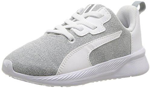 - PUMA unisex-baby Tishatsu Runner Knit AC Sneaker, Quarry White, 7 M US Toddler