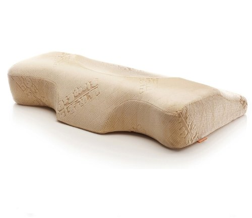 Sleep.E Memory foam pillow inner,super-elastic lining,breathable pillowcase,anti stiff neck by the lengthened size,ease the pressure on the neck by concave arc curve design MO3068B by Sleep.E