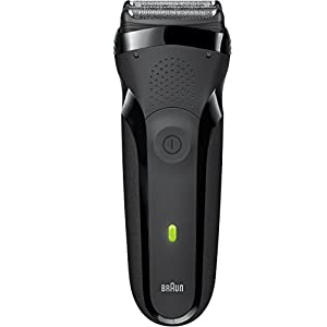 Braun Series 3 300s Men's Electric Shaver / Rechargeable Electric Razor, Black