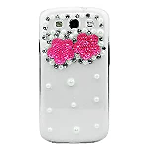 Jewerly Coverd Crystal Pink Starfish Pattern Caso transparente del cuerpo para Samsung Galaxy S3 I9300