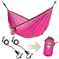 LA SIESTA Colibri - Parachute Silk Single Travel Hammock with Integrated Suspension