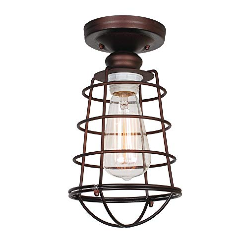 Design House 519694 Ajax 1 Light Ceiling Light, Bronze by Design House