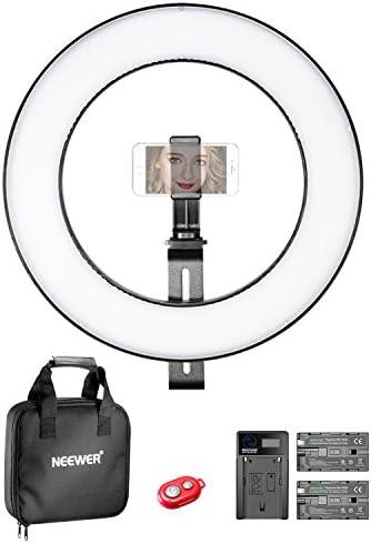 Neewer 36 Centímetros Exterior Luz de Anillo Bi-color SMD LED ...