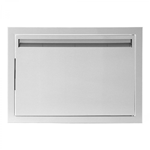 BBQGuys.com Aspen Series 20-inch Stainless Steel Right-hinged Single Access Door - (Right Hinged Stainless Single)