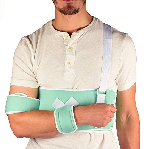 Dr. Franklyn's Frankies Universal Shoulder Immobilizer Brace - Quick Recovery Aid for Surgery & Surgery - Easy to Wear Medical Sling for Men & Women