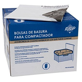 Price comparison product image Whirlpool W10165294RB 15-Inch Plastic Compactor Ba, Pack of 60 by Whirlpool