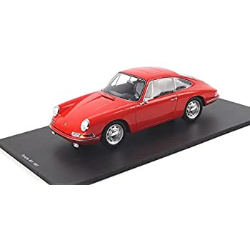 Porsche 901 Red Resin Model Car in 1:18 Scale by Spark