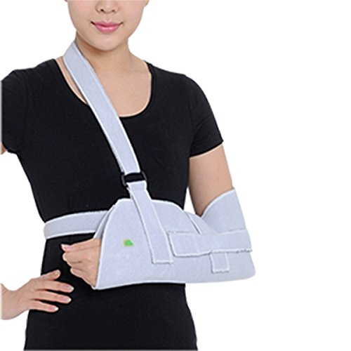 Jinon Dislocated Shoulder Sling for Women,Arm Slings, Shoulder Immobilizer Rotator Cuff for Broken Wrist Elbow Support,Arm Sling for Men or Women,Lightweight,Breathable (Grey)-USA Shipping by Jinon