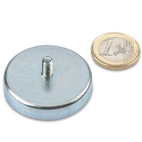 Gr/ö/ßen Durchmesser:/Ø 32 mm SCHWEISSER KING Magnetfu/ß Flachgreifer mit Zapfen Oxit Hartferrit div