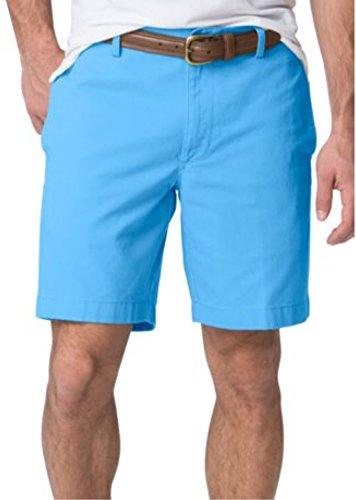 Chaps Men's Big & Tall Flat Front Stretch-Twill Shorts (48B, ()