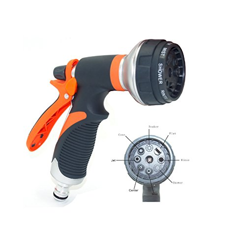 Accreate Multi-function Handle Spray Nozzle Gun Adjustable Watering Pattern Sprayer for Watering Cleaning Practical Tool