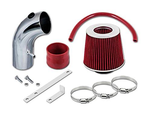 TOYOTA 90 91 92 93 94 95 96 97 98 99 Celica ST GT GTS 1.6L, 1.8L, 2.2L L4 Short Ram Intake Sr-ty14 with Red Filter1 (Celica Gt Short Ram Intake)