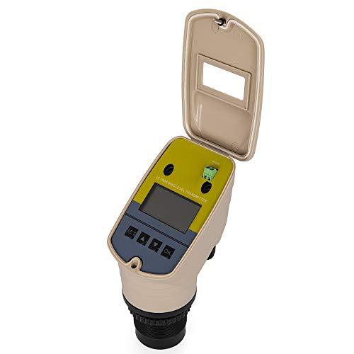 VEVOR 4-20mA Ultrasonic Level Transmitter DC 24V Water Level Sensor Gauge 0-5m Liquid Depth Level - Level Liquid Transmitter