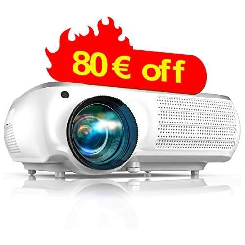 chollos oferta descuentos barato TOPTRO 6800 Lumen Proyector Full HD 1080P Native 1920 x 1080 Soporte vídeo 4K Sonido Dolby Pantalla 300 Ajuste Digital 4D Función Zoom