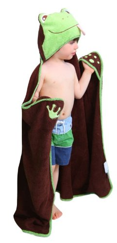 Frog Character Hooded Towel - Frog - One of a kind extra large toddler / child Animal Character Towel with paws, Frenchie Mini Couture