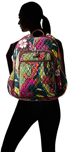 Women's Campus Tech Backpack, Signature Cotton, Autumn Leaves by Vera Bradley (Image #4)
