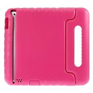 Nueva cubierta Resistencia Soporte del silicio de la manija de lujo de la historieta para el iPad 2/3/4