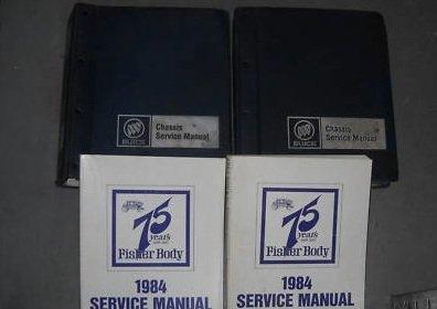 1984 Buick Grand National Riviera ALL MODELS Service Shop Repair Manual Set 4 ()