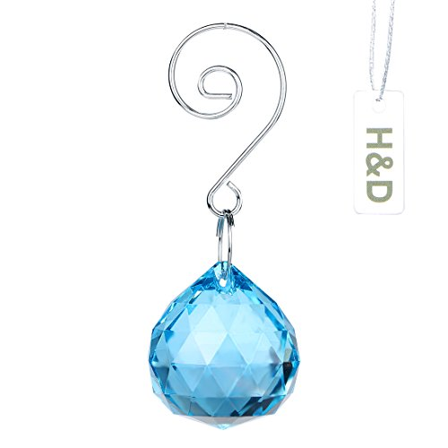H&D 30mm Fengshui Faceted Crystal Ball Crystal Prisms Suncatcher 1.23.2inch