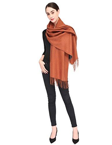 Women Soft Pashmina Scarf Stylish Warm Blanket Scarves Solid Winter Shawl by Arctic Penguin (Image #6)