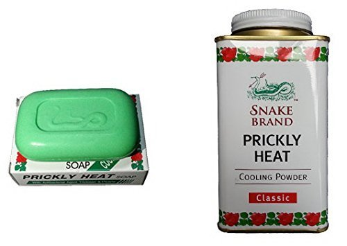 St.Lukes Snake Brand : Prickly Heat Cooling Powder 150g (5.29 Oz) + Prickly Heat Soap 100g (3.5 Oz) : Cooling Formula , Original Type
