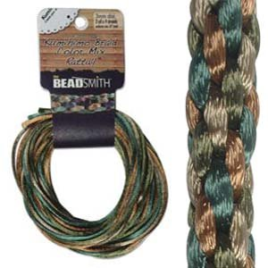 3mm Satin Rattail Braiding Cord Earth Tones 12 Yards For Kumihimo and Craft