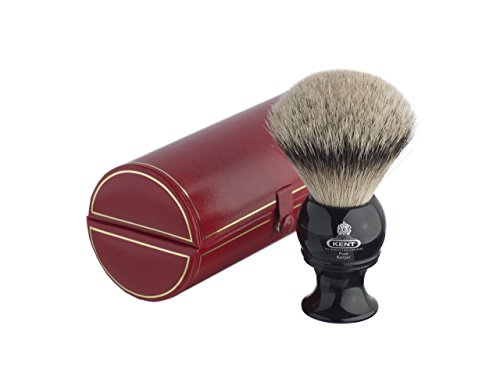 Kent BLK12 Traditional King-Sized Pure Silver Tip Badger Shaving Brush For Sale