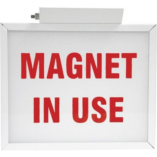 LED Illuminated Medical Door Signs - MRI ''Magnet In Use'' Double Sided 11'' x 9'' x 2-1/4''