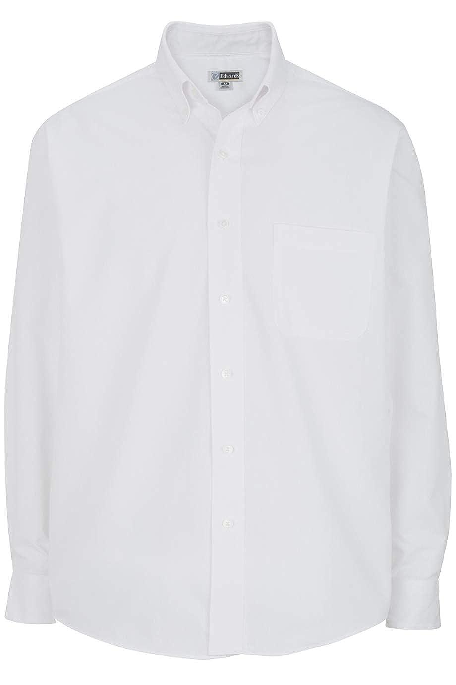 Edwards Mens Lightweight Long Sleeve Poplin Shirt