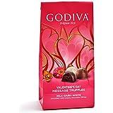 Godiva Chocolatier Valentine's Day Individually Wrapped Milk and Dark Chocolate Truffles Gift Bag
