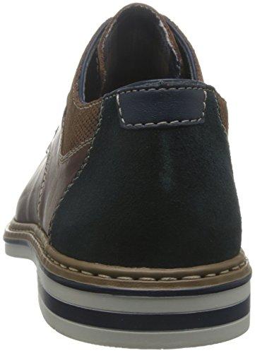 Rieker - Zapatos de cordones para hombre marrón