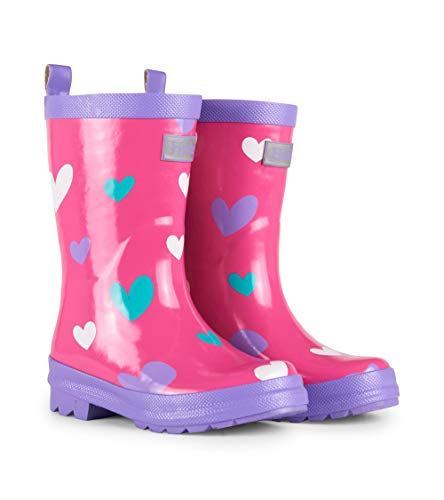 (Hatley Girls' Little Printed Rain Boot, Sweetheart 11 US Child)