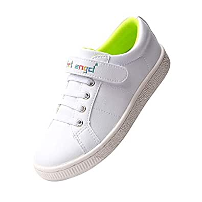 hot angcl Kids Skateboarding Shoes Casual Walking Sneakers Kids Shoes Boys Girls (2 M US Little Kid, White)