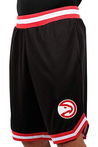 NBA Atlanta Hawks Men's Mesh Basketball Shorts Woven Active Basic, X-Large, Black