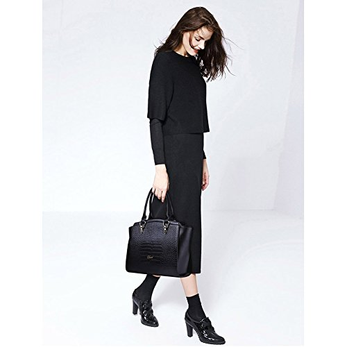 Bag Designer For Shoulder Leather 14 Handbag black Purple Women Cluci Shopper Tote Taro EYSxqECw