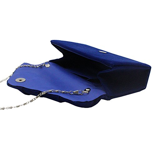 Faux Wedding Bag Blue Cckuu Envelope Evening Suede Royal Party Green Bridal Clutch Pleated Womens qfIwfvgp