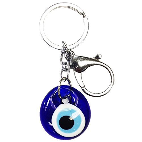 CF76881020, Evil Eye Keychain 3 inches long hand made in Turkey. (Ring Of The Evil Eye Dark Souls)