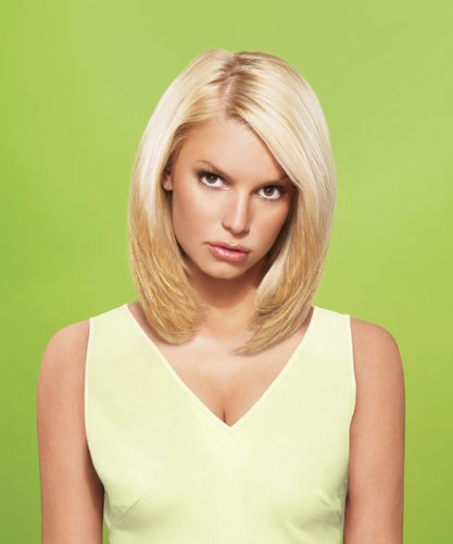 "hairdo from Jessica Simpson and Ken Paves 10"" Vibralite Synthetic Clip-In Extension, Straight, Buttered Toast"