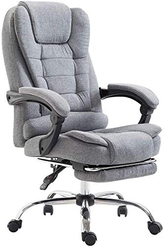 Office Chair Furniture Reclining Backrest Computer Chair Home Office Chair Fabric Boss Chair Lunch Break Massage Swivel Chair Game Study Seat Chairs (Color : Gray, Size : 64 64 122cm) Home Accesso