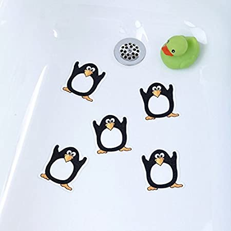 pingüino) Tub Tatuajes baño & ducha antideslizante peldaños ...